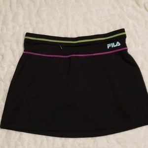 Adorable sz sm black FILA Active Sport Skort Skirt